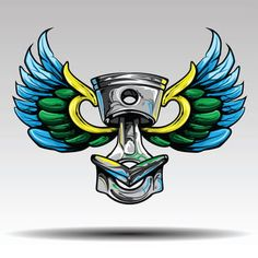 piston with wings, Arm, Auto, Automobile PNG and Vector Car Vector, Retro Vector, Free Vector Graphics, Vector Art, Wings Png, Bird Wings, Butterfly Logo, Butterfly Wings, Background Banner