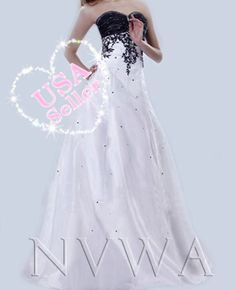 NVWA G27 Black Bridesmaid Bridal Wedding Prom Evening Quinceanera Dress