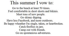 Going to do all of this! Summer 2012 <3