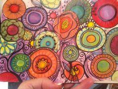 mixed media in my sketchbook
