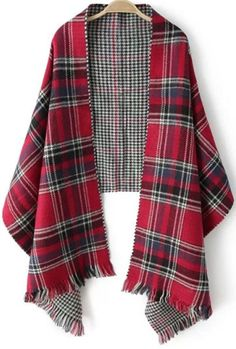 Time to wrap it up, ladies. This plaid scarf is oversized and made in a super soft fabric to keep you hot in every sense of the word. Pair it with contrast plaids for a bold contrast look! Plaid to Tartan Plaid, Mode Tartan, Plaid Scarf, Cape Scarf, Tartan Fashion, Scottish Plaid, Fringe Scarf, Shawls And Wraps, Refashion