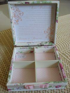 Caixa Casamento - Pais e Padrinhos (0067CAS) - Denise e Rogerio - Tudo em Caixas