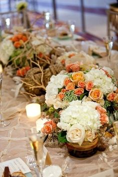 Coral and Peach Beach Themed Tablescape