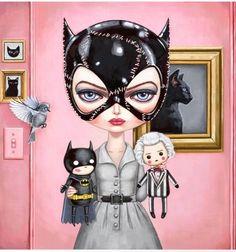 Catwoman, Batman Returns (Tim Burton), by AsterozeaStudio. Catwoman Cosplay, Cosplay Gatúbela, Tim Burton Kunst, Tim Burton Art, Batman Returns, Comic Kunst, Comic Art, Comic Book, Jocker Batman