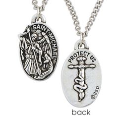 Saint Michael Protect Us Medal Christian Necklace – Beattitudes Religious Gifts