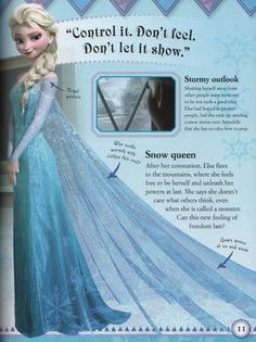 Elsa - frozen-- Yup, my future wedding dress will be influenced by Elsa's dress. Love it.