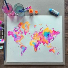 Not your normal map of the world - check out Goode Projection Map + Mollweide Projection Map on Google images