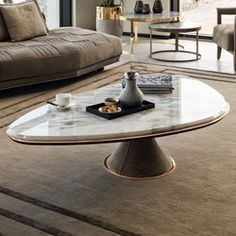Find out all of the information about the LONGHI S. product: contemporary nesting tables / steel / marble / round BIS Y 714 Contact a supplier or the parent company directly to get a quote or to find out a price or your closest point of sale. Coffee Table Plants, Coffee Table Furniture, Coffee Table Design, Marble Coffe Table, Centre Table Living Room, Dining Table, Centre Table Design, Central Table, Table Haute