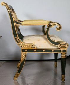 Pair of Fabulous Russian Neoclassical Style Chairs image 4