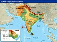 This map shows Southeast Asia. Southeast Asia  is made up of two regions, mainland and island Southeast Asia. The geography is made up of mountains and high plateaus. There are also four main river valleys, the Irrawaddy, Chao Phraya, Mekong and Red.