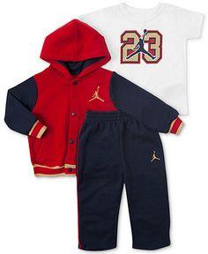 Jordan Baby Boys' 3-Piece Varsity Jacket, Tee & Pants Set - Kids Baby Boy (0-24 months) - Macy's