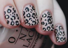 Pack A Punch Polish • Matte Nude Leopard Nails