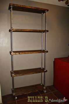 DIY Industrial Shelf.. need to get my hubby to make this again.. left our tables he made in las vegas :(