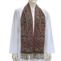 Wool Scarves Mens Winter Clothes Jacquard Design 12 x 60 inches (Apparel)  http://www.picter.org/?p=B003FMIIFY