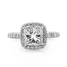 3.01ct Cushion Cut Diamond Engagement Ring...I already told hubby I want this for our 10 year