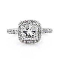 3.01ct Cushion Cut Diamond Engagement Ring