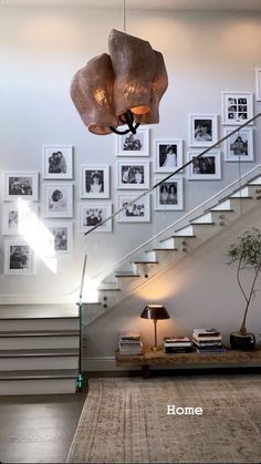 Gallery wall with black and white pictures, from Kylie Jenner Dream House Interior, Dream Home Design, Home Design Decor, Home Interior Design, Interior And Exterior, Simple House Design, Casa Kylie Jenner, Kris Jenner House, Kylie Jenner Bedroom