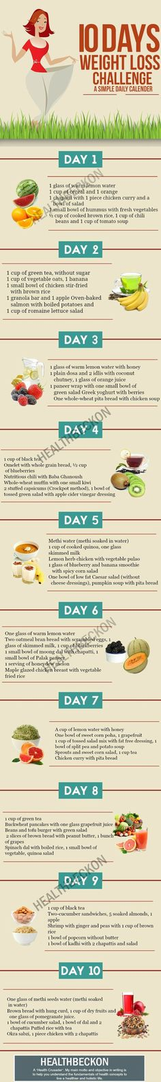 If you too are looking for ways to lose weight and live a healthier life, you have come to the right place! The following tips can help you shed a few pounds, and that too in just 10 days! #weightlossrecipes