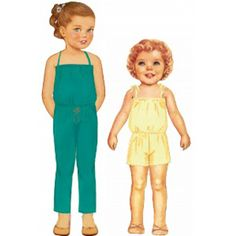Citronille Pattern Overall Tabatha. Ages : 16 a - La Mercerie Parisienne Little Fashion, Kids Fashion, Knitting Patterns, Sewing Patterns, Paper Dolls Printable, Romper Pattern, Baby Couture, Vintage Paper Dolls, Sewing For Kids