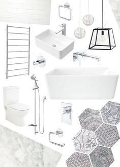 Clean Modern bathroom renovation project. Click through to see process and finished room photos.