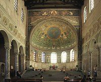 Ravenna: Basilica di Sant'Apollinare in Classe. consecrated in Byzantine Architecture, Romanesque Architecture, Sacred Architecture, Contemporary Architecture, Ottonian, Byzantine Art, Early Christian, Visit Italy, Place Of Worship