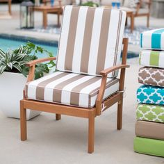Coral Coast Lakeside Hinged Outdoor Deep Seating Cushion - Comfy and colorful, the Coral Coast Lakeside Hinged Outdoor Deep Seating Cushion is a great way to make the most of your patio space this summer. Its...