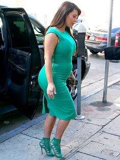 Kim Kardashian - Come to the comfortable side and invest in some nice maternity clothes. You look so uncomfortable.
