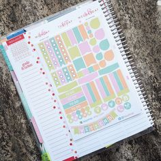 Floral Theme Essential Kits Sticker Planner // Perfect for Erin Condren Life Planner by FasyShop on Etsy