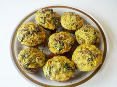 Egg and Sausage Muffins with #coconutflour