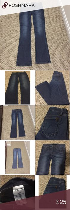 Joe's blue mid rise bootcut jeans like new Joe's regular blue mid rise bootcut jeans. I don't remember wearing it at all, but maybe I wore it once. Condition like new! No defects. Inseam 33. Good for tall girls or hi heels! Joe's Jeans Jeans Boot Cut