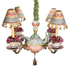 Our Tea Party Chandelier pretty much says it all!