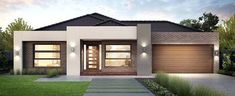 Modern House Plans One Story House One Floor House Modern Single Story House Flat Roof Modern House Plans One Modern House Design Plans Pdf Modern House Facades, Modern House Plans, House Front Design, Modern House Design, Contemporary Design, Single Floor House Design, Planer Layout, House Plans One Story, 1 Story House