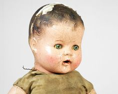 Antique Early 1900's Composition Doll w/ Sleepy Eyes.
