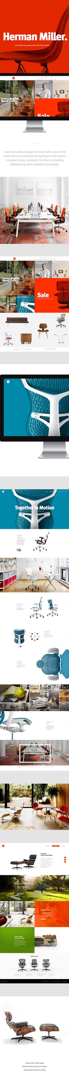 Herman Miller new proposal Ui redesign concept by Adre do Amaral on Behance.