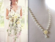 Hey, I found this really awesome Etsy listing at https://www.etsy.com/listing/166128226/ivory-necklace-floral-jewelry-wedding