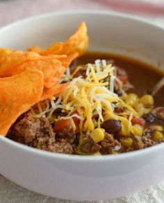 The Rise Of Private Label Brands In The Retail Meals Current Market Slow Cooker Beef Taco Soup - Mommy Hates Cooking Slow Cooker Beef Tacos, Crock Pot Tacos, Crock Pot Soup, Slow Cooker Recipes, Beef Recipes, Soup Recipes, Crockpot Meals, Fall Recipes, Recipies