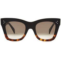 81174aef3af Matthew Williamson x Linda Farrow leaf cutwork clip-on acetate sunglasses.  See more. Céline Sunglasses D-frame acetate sunglasses (2810 MAD) ❤ liked  on ...