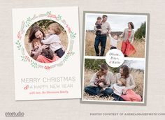 Christmas Card Template CC010 by OtoStudio on Creative Market