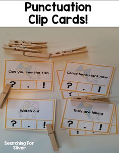 Read and clip the punctuation! Fun and hands-on literacy practice activities