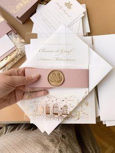 Wedding Stationery Trends, Wedding Invitation Trends, Acrylic Wedding Invitations, Minimalist Wedding Invitations, Wedding Trends, Dusty Pink Weddings, Luxury Wedding, Gold Wedding, Lettering