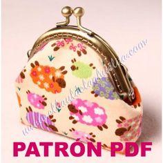 Patrón PDF - Monedero con boquilla Claudia. Incluye tutorial paso a paso con muchas fotos!