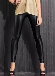 calça legging cirre cintura alta brilho molhado couro lycra