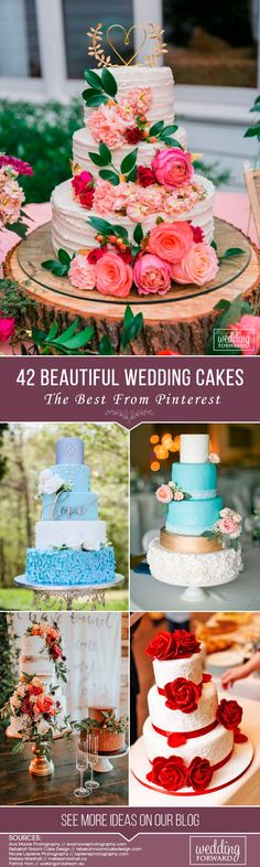 Wedding cakes are ma