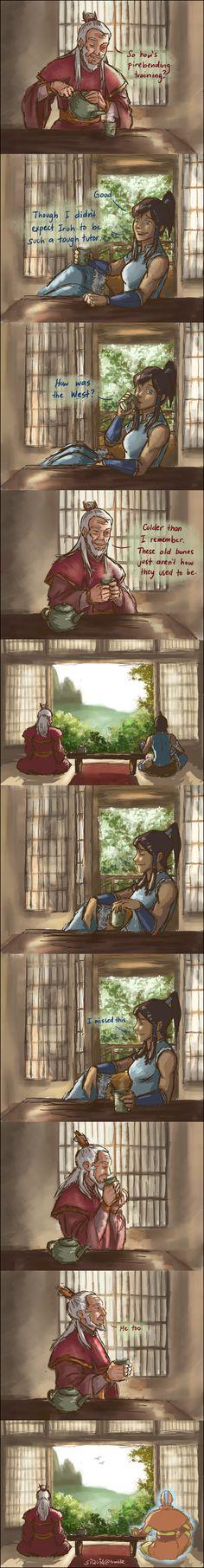 Avatar: The Legend of Korra - Zuko and Korra