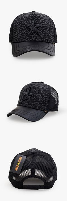 Hats 52365: Gold Star Yeezy Black Grey Gray Trucker Hat One Size Cotton Polyester Mesh -> BUY IT NOW ONLY: $39.99 on eBay!