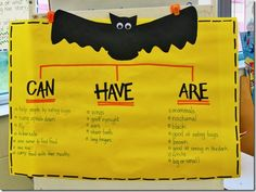 One pinner said-- Bat Unit structured language activity. I love this idea. I did it in my grade classroom yesterday and the kids loved it! Kindergarten Science, Kindergarten Classroom, Teaching Science, Science Activities, Teaching Reading, Classroom Activities, Classroom Ideas, Primary Science, Science Ideas