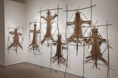 Textile artist Ruth Marshall knits pelts of endangered animals.
