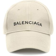 Balenciaga Embroidered Cotton Baseball Cap (19.340 RUB) ❤ liked on Polyvore featuring accessories, hats, cap, beige, beige baseball cap, ball cap, ball cap hats, baseball hat and cotton baseball cap