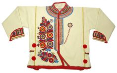 Beautiful Ethnic Embroidered Coat Slovak Folk Costume Wool Peasant Style Kroj | eBay