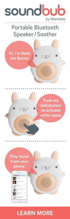 Meet SoundBub, the cuddly Bluetooth speaker and white noise soother that your littles will love.